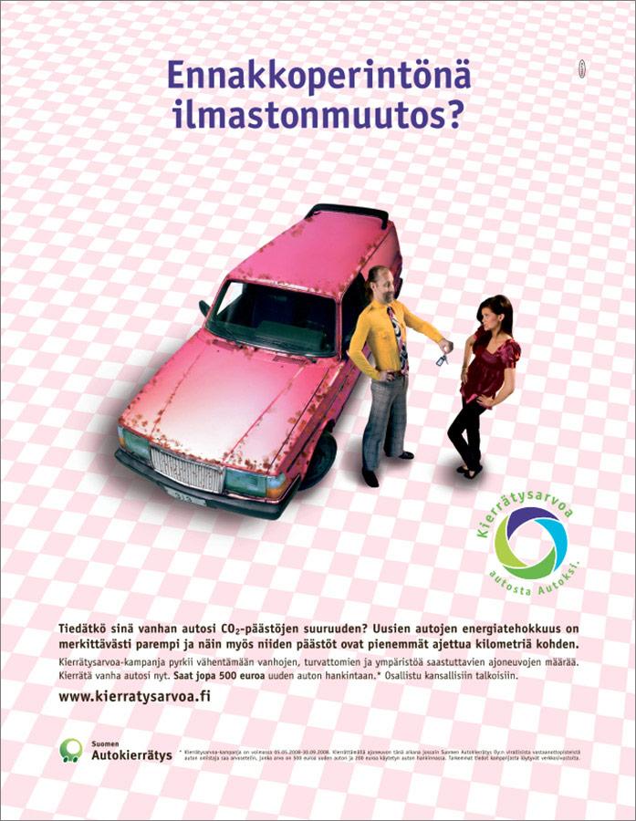 Suomen Autokierrätys. Ennakkoperintönä ilmastonmuutos.