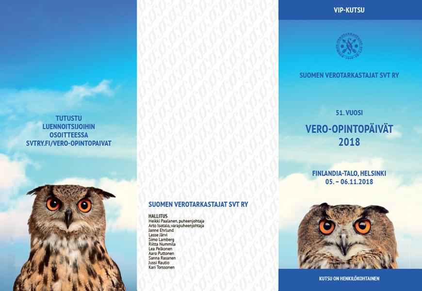 SVT, Vero-opintopäivät, 51. vuosi, kutsu.