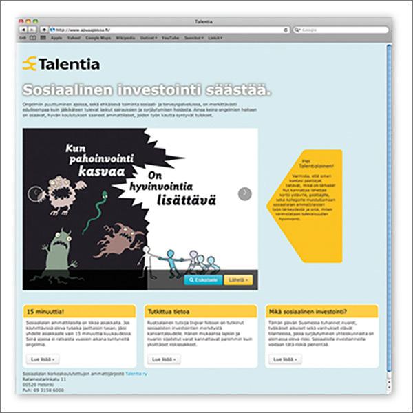 Talentia, Apua ajoissa www-sivu.
