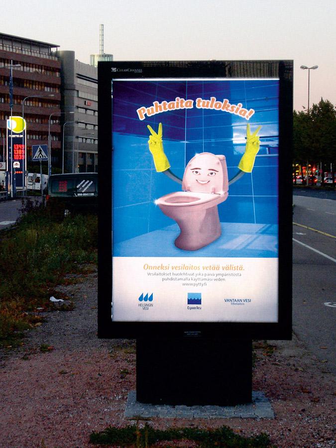 Vesilaitosyhdistys. Pytty-kampanja. Puhtaita tuloksia.
